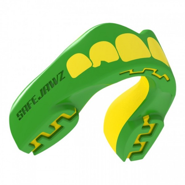 Safejawz Mundschutz Extro-Series Ogre Green/Yellow Senior Senior