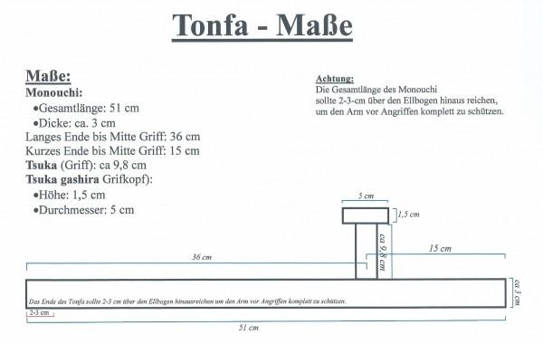 Paar Tonfa, rund, ca 51 cm