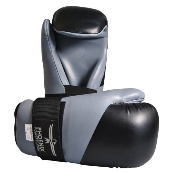 Pointfighting Open Hands grau-schwarz