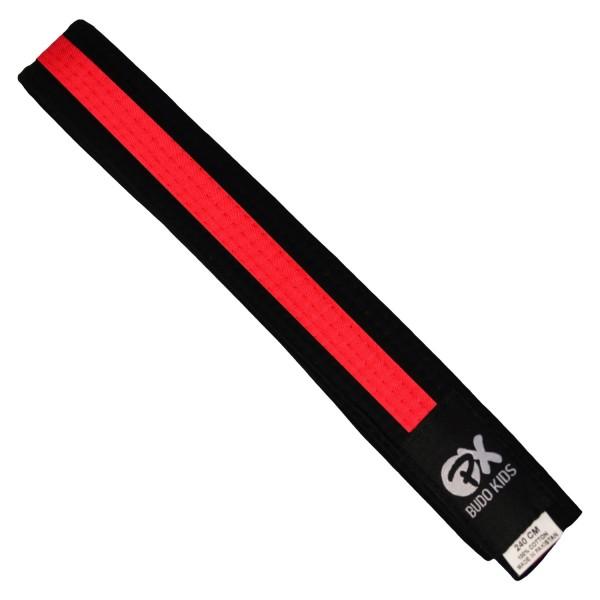 PX Budo Kids Softbelt, schwarz-rot