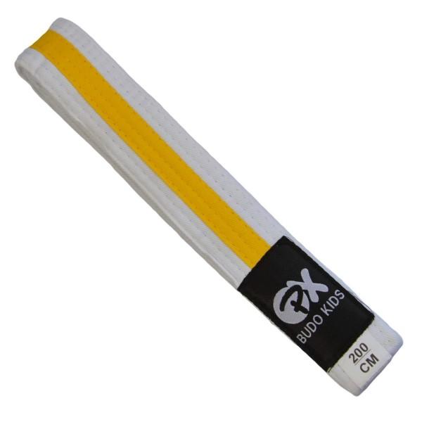 PX Budo Kids Softbelt, weiß-gelb