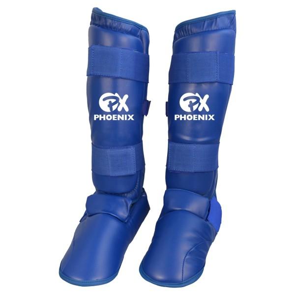Karate Kumite Schienbein-Spannschutz blau
