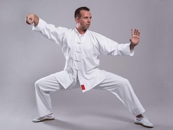 Shaolin Kung Fu Anzug weiß