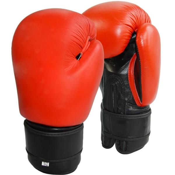 Boxhandschuhe Top-Modell rot Echtleder