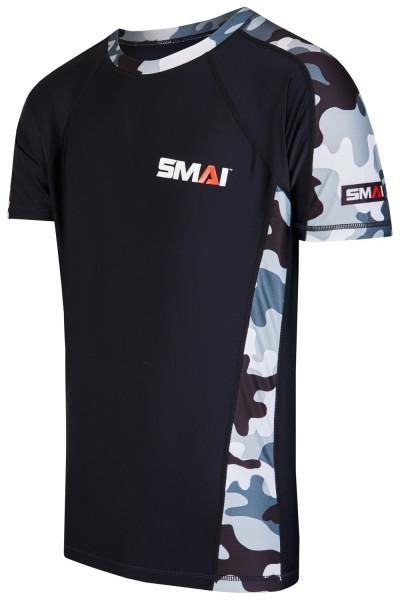 SMAI Rashguard kurzärmelig schwarz-camo