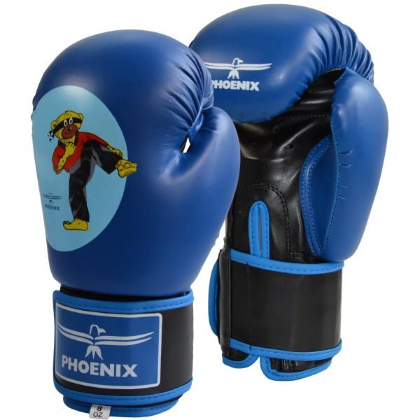 Junior Boxhandschuhe PU blau BUDOBAERT