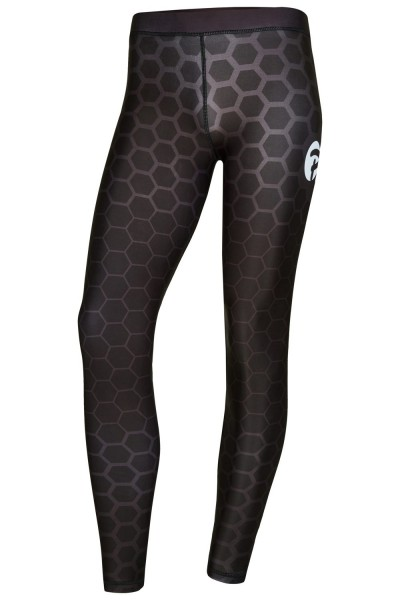 PX Damen Leggings, schw-grau, lang