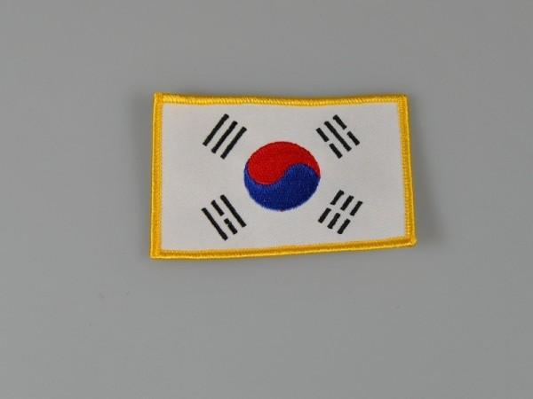 Stickabzeichen korean Flagge ca 10x6,5 cm