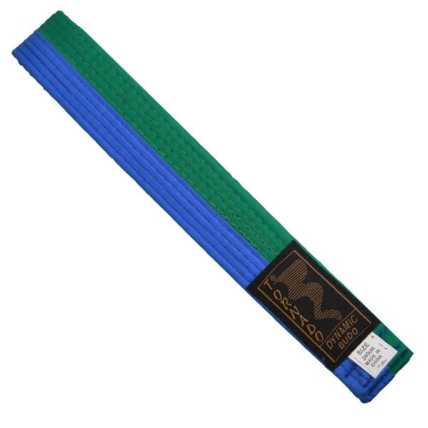 Budogürtel grün-blau mittig geteilt