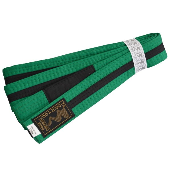 Kinder BJJ Gürtel grün-schwarz m. Bar
