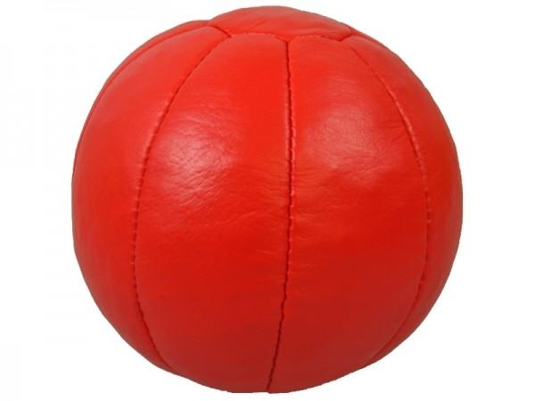 Medizinball Echtleder 3Kg rot, D= 20 cm