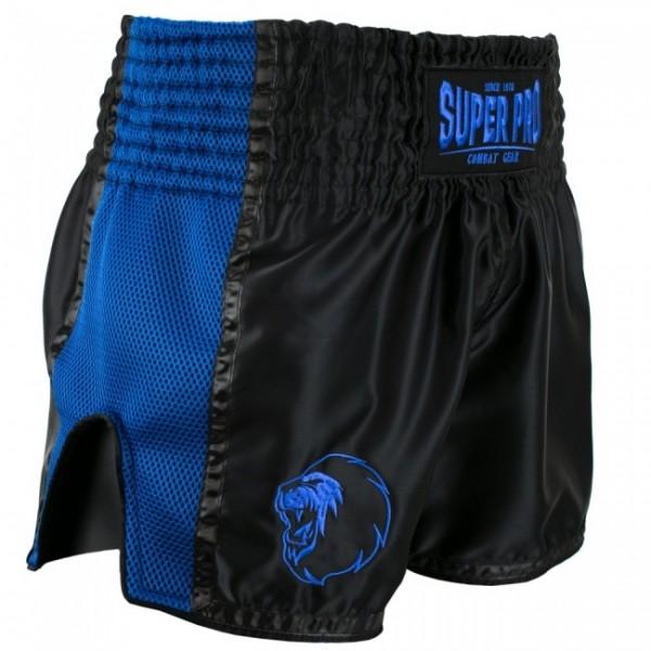 Super Pro Combat Gear Thai- und Kickboxing Short Brave black/blue
