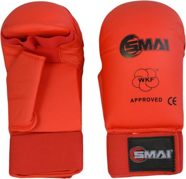 SMAI WKF- Kar-Handschutz m. Daumen rot