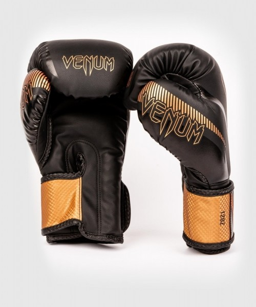 Venum Impact  Gloves - Black/ Bronze 10oz