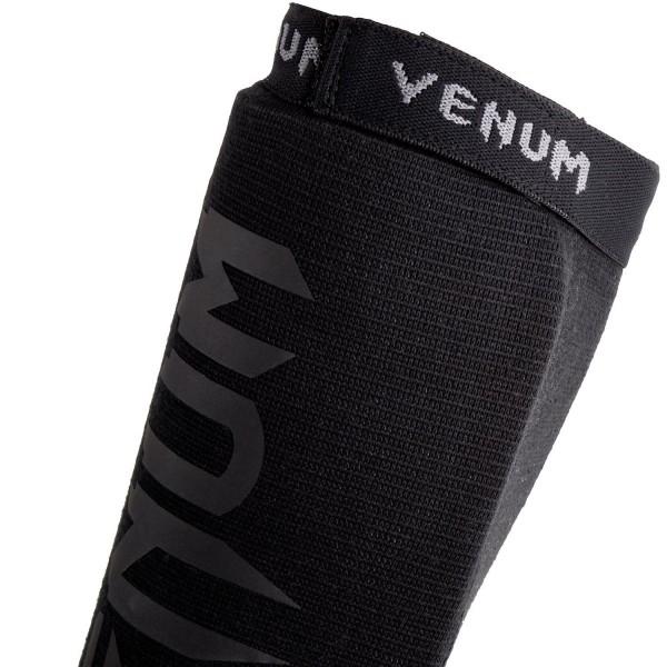 Venum Kontact Shinguards-Black/Black