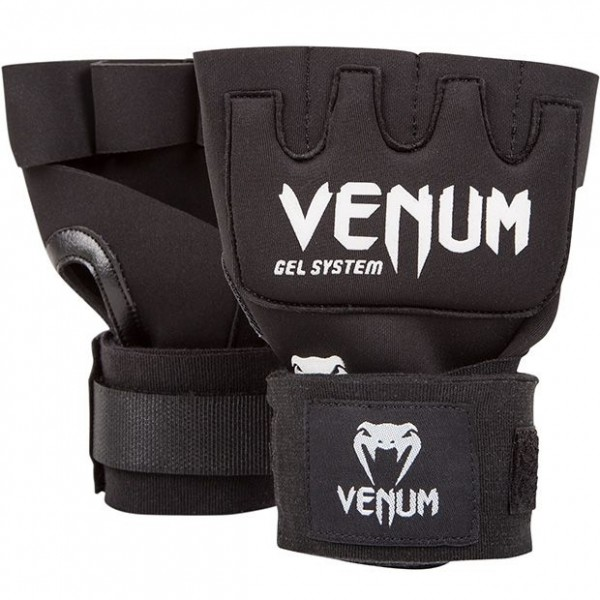 Venum Kontact Gel Glove Wraps - Black-white