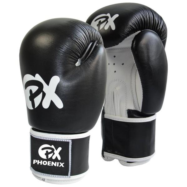 PHOENIX PX Boxhandschuhe schwarz-weiß 10oz WAKO