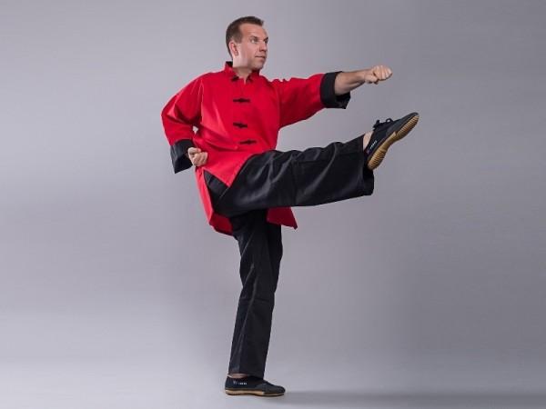 Kung Fu Jacke SHAOLIN II rot