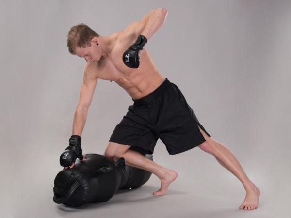 MMA Shorts weit schwarz