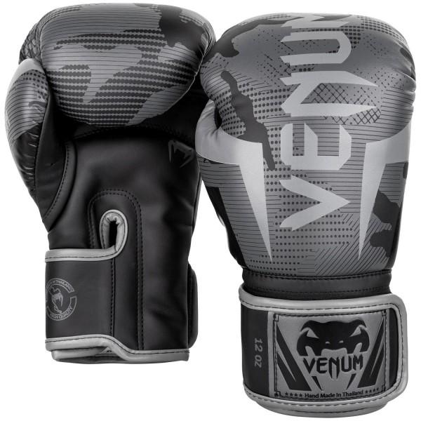 Venum Elite Gloves - Black/ Dark Camo 10oz