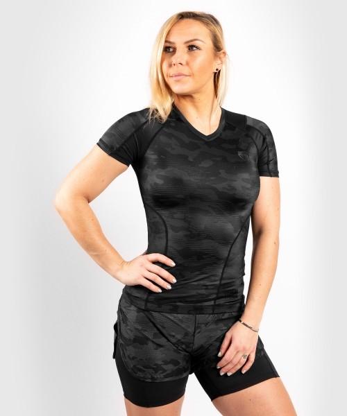 Venum Women Defender Rashguard Short Sleeves- schwarz L