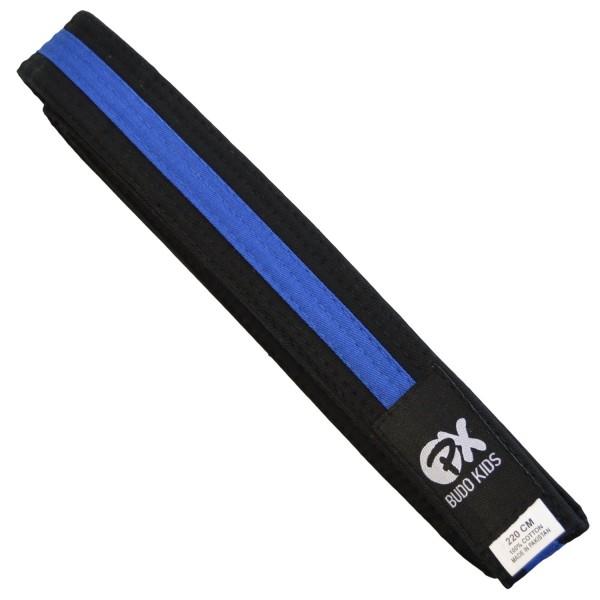 PX Budo Kids Softbelt, schwarz-blau