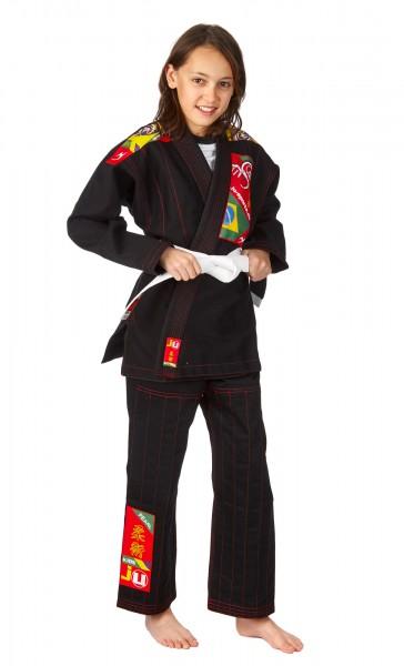 Ju Sports BJJ Anzug Kids, schwarz
