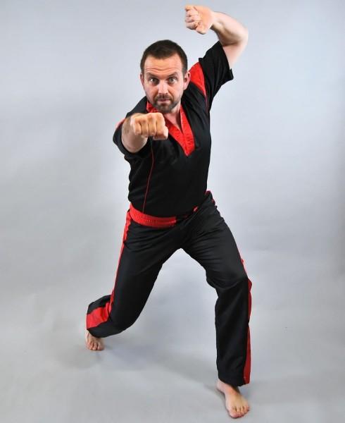 PHOENIX Pointfighting Anzug, schwarz-rot