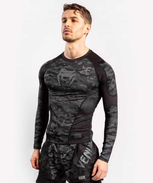Venum Defender Rashguard - Long Sleeves - dark camo L