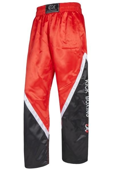 BUDO's FINEST Kickboxhose schwarz-rot-weiss