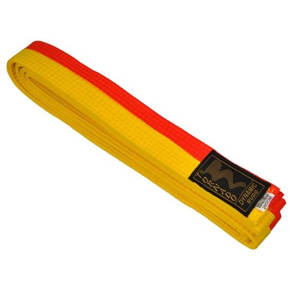 Budogürtel gelb-orange mittig geteilt