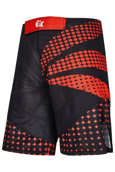 PX MMA Shorts schwarz-rot, Stretch