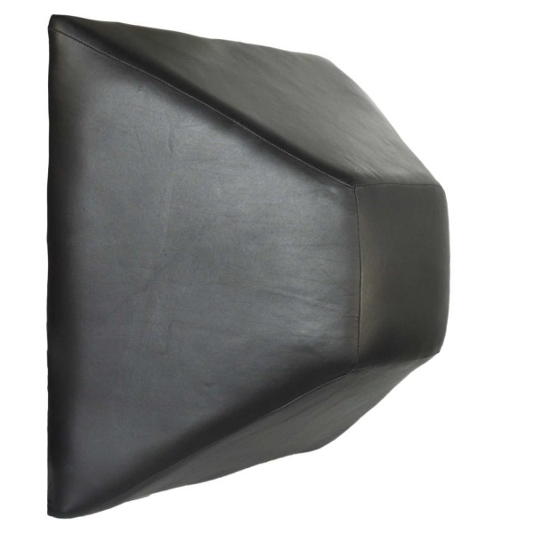 Wandschlagpolster Pyramide Leder 50x50x20 cm