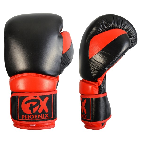 PX Leder Boxhandschuh COMBAT, schwarz-rot