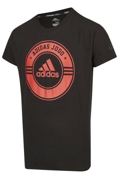 ADIDAS T-Shirt Combat Sport Judo schwarz-red 140