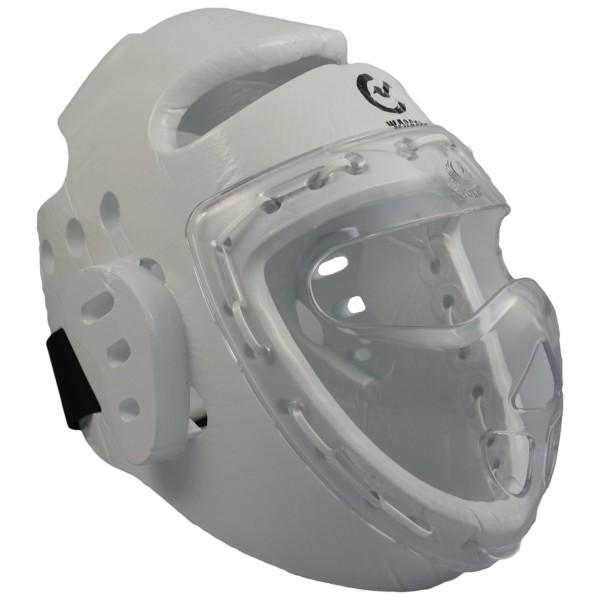 Kopfschützer weiß Schaumstoff, Maske, WTF