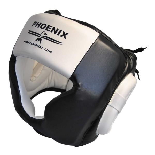 PHOENIX Kopfschutz Kunstleder schwarz-weiß