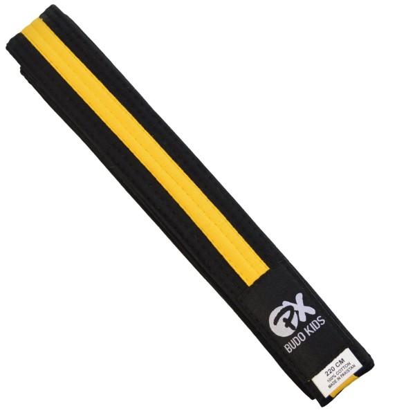 PX Budo Kids Softbelt, schwarz-gelb