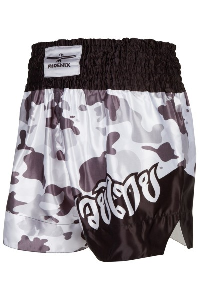 "PHOENIX Thai Shorts, ""FIGHTER"" grey camo"
