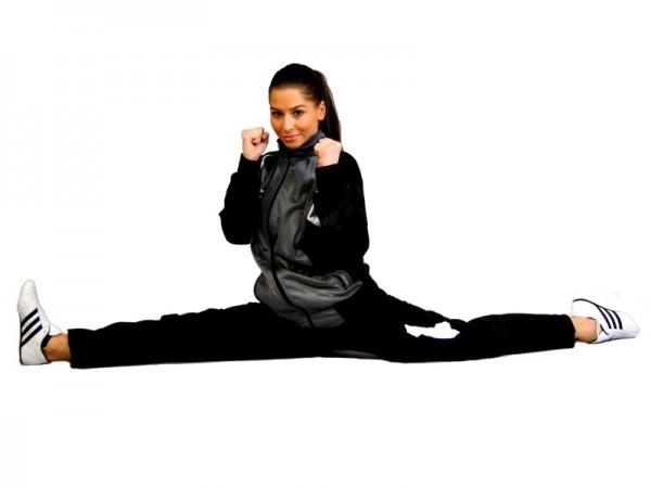 PHOENIX Trainingsanzug Jacke grau-schwarz
