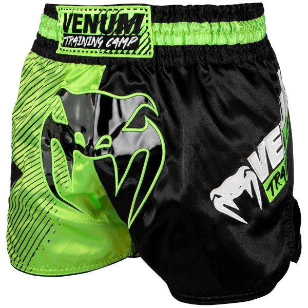 Venum Training Camp Muay Thai Shorts - Black/Neo L
