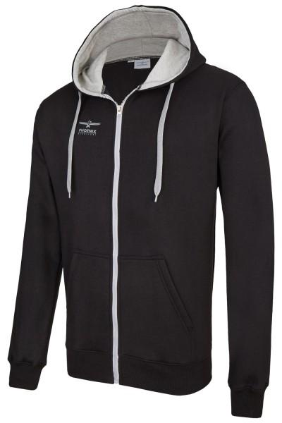 PHOENIX Hoodie schwarz-grau