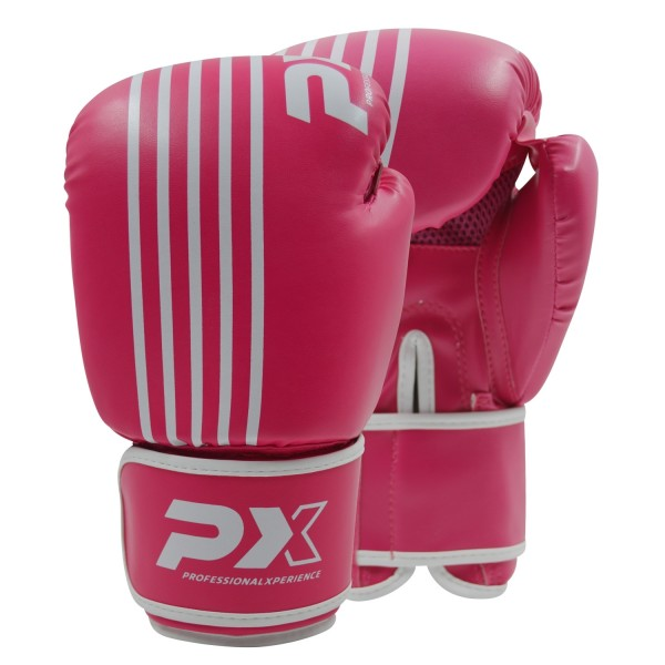 PX Boxhandschuhe SPARRING, PU pink-weiß 6oz