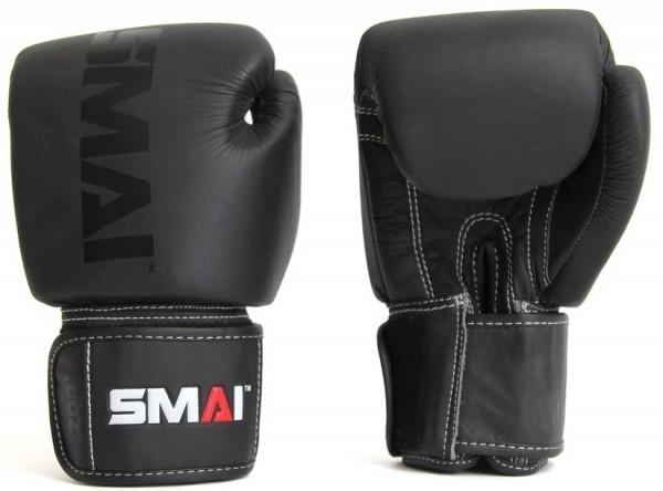 SMAI Elite P85 Boxhandschuhe, Leder, schwarz 8oz