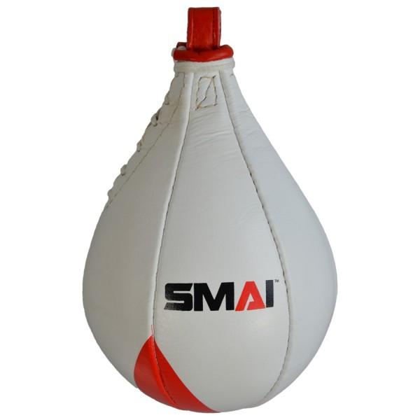 SMAI Echtleder Speedball,ca., 25 cm, rot-weiß
