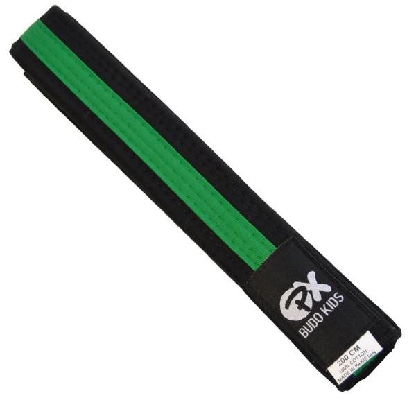 PX Budo Kids Softbelt, schwarz-grün