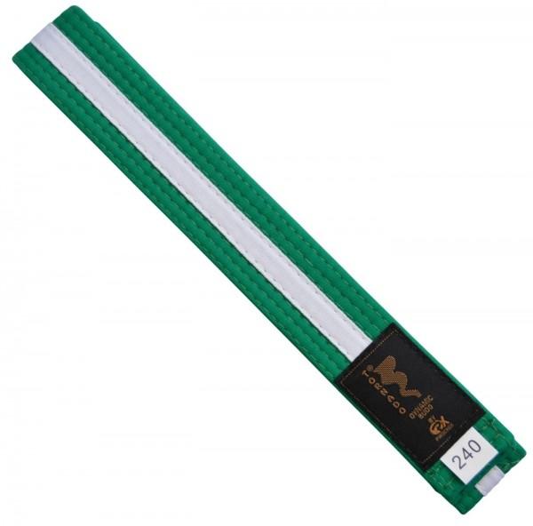 Budogürtel green-weiß 220cm