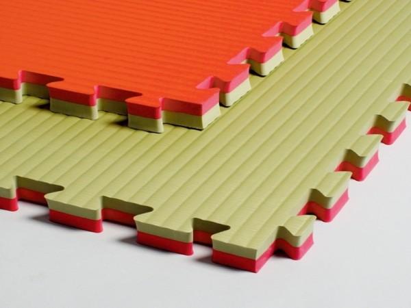 Kampfsportmatten grün-rot ca.100x100x4cm