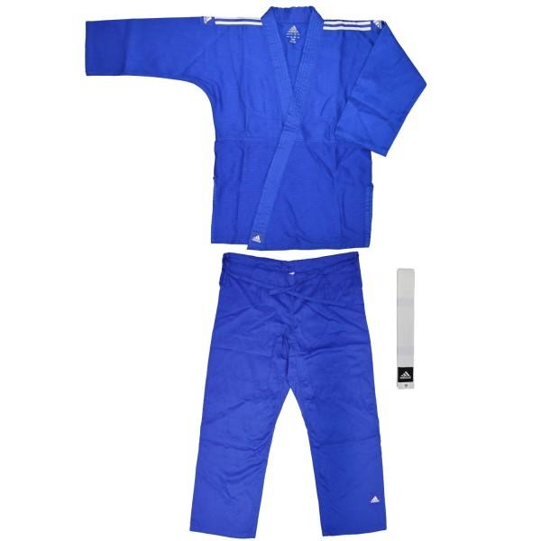 "ADIDAS Judo ""Club"" blau, weiße Streifen"