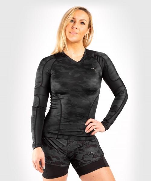 Venum Women Defender Rashguard - Long Sleeves - schwarz XS